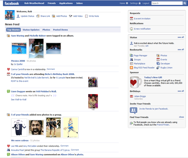 facebook facelift, profile redesign