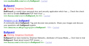 yahoo show spyware warnings in seo results for natural search engine results