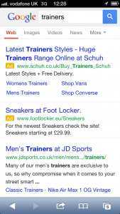 New Google Mobile Adwords